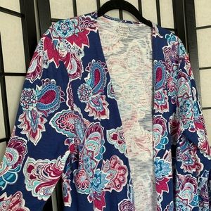 NEW Chico's Outline Floral Long Cardigan
